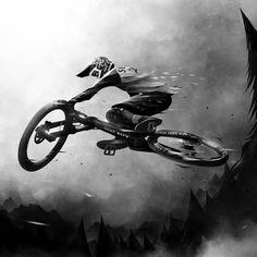 Bicycle Tattoo, Bike Tattoos, Bicycle Art, Downhill Bike, Mtb Bike, Trek Mountain Bike, Mountain Biking Quotes, Lucky Boy, Montain Bike