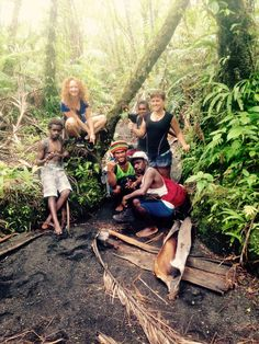 On our way to a live volcano in Vanuatu. 11.5 hours of walking!