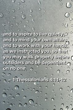 1 Thessalonians 4:11-12