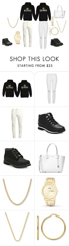 """Matching Outfits"" by kiaundria98 on Polyvore featuring River Island, Yves Saint Laurent, Timberland and Michael Kors"