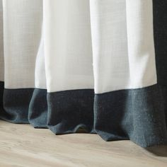 Shop for Aurora Home Colorblock Border Linen Blend Curtain Panel Pair - 52 x Get free delivery On EVERYTHING* Overstock - Your Online Home Decor Outlet Store! Home Curtains, Panel Curtains, Home Decor Outlet, Color Blocking, Aurora, Living Spaces, Best Deals, Shopping, Clothes