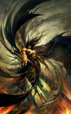 "Illustration by Raymond Swanland Glen Cook's book, ""The Black Company"" Dark Fantasy Art, Fantasy Artwork, Fantasy World, Dark Art, Fantasy Creatures, Mythical Creatures, Raymond Swanland, Black Company, Mtg Art"