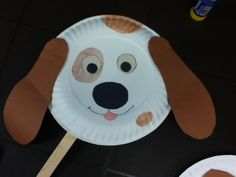 Paper plate craft - doggie mask - craft for toddlers