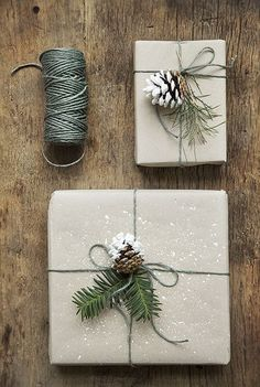 21 Christmas Gift Wrapping Ideas That Make Anyone Look Like a Decorating Professional - First for Women Creative gift wrapping is that special final touch your presents need this year, and these easy crafting ideas help you get it done without the stress Noel Christmas, Winter Christmas, All Things Christmas, Christmas Ideas, Christmas Glitter, Christmas Traditions, Natural Christmas Decorations, Whimsical Christmas Trees, Cheap Christmas