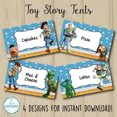 Toy Story Tents Perfect as Food or Name Labels. 4 por Kardography
