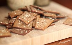 Paleo Chestnut Crackers with Anise and Sesame - 17 Recipes