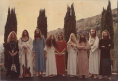 hippies probably living in a commune - all hippies didn't look like this exactly (Patty)