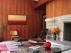 Lawrence Modern home Nelson Bubble Lamp, George Nelson, Mid Century Modern Design, Eames, Modern Architecture, Design Elements, Mid-century Modern, Flooring, Chair