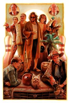 The Big Lebowski by Nick Runge / X giclee print, numbered timed edition release with a maximum run of Available via Cult Cinema Sunday in commemoration of the film's screening on April only available from GMT Friday, April until Sunday April HERE. Best Movie Posters, Movie Poster Art, Poster S, Cool Posters, El Gran Lebowski, The Big Lebowski, Big Lebowski Poster, Big Lebowski Quotes, Joel And Ethan Coen