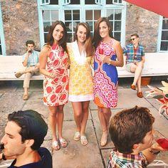 printed dresses. sarah vickers can rock it.