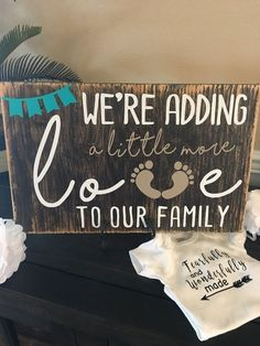 Baby Announcements Custom Wood Sign #Announcement #PregnancyAnnouncements
