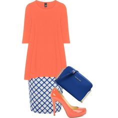 A fashion look from April 2017 featuring Jonathan Saunders skirts, Christian Louboutin pumps and MICHAEL Michael Kors shoulder bags. Browse and shop related lo…