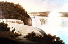 """View of Niagara Falls,"" Charles Fraser, ca. 1820, oil on canvas, 23 7/8 x 32 5/8"", Gibbes Museum of Art."