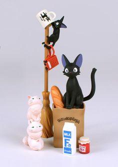 Хаяо миядзаки кики доставка черный кот Jiji Cat DIY куклы пвх пластиковые ремесла декоративные украшения микро пейзаж купить на AliExpress