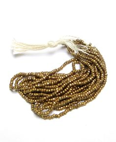 Antique FRENCH Cut Steel BEADS Micro GOLD by DrivingMissMoppet