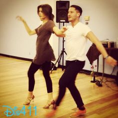 """Photo: Zendaya Looks Beautiful As She And Val Chmerkovskiy Practice For """"Dancing With The Stars"""""""