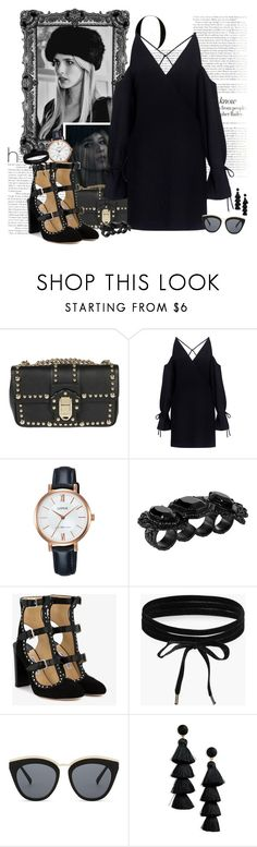 """""""Have you met me?"""" by fashionicious ❤ liked on Polyvore featuring Coven, Vanity Fair, Dolce&Gabbana, IRO, Lorus, Dsquared2, Jimmy Choo, Boohoo, Le Specs and BaubleBar"""