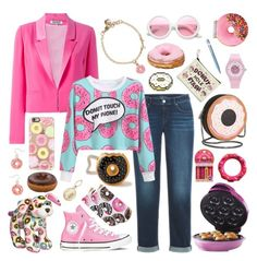 """Donut Fixation"" by inspiredsara ❤ liked on Polyvore featuring Casetify, Circus by Sam Edelman, Forever 21, Juicy Couture, Iscream, Kenzo, Converse, ZeroUV, Caran D'Ache and Kate Spade"
