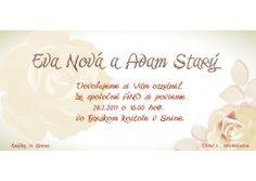 Svadobné oznámenie - SD010