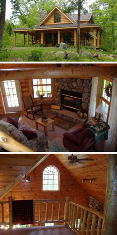 Take a look at this gorgeous woodland log home and its beautifully rustic interior