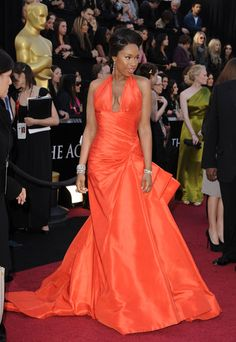 from 2011 Oscars - she wears this color so well - jennifer hudson