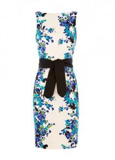 Coast Jimena print cotton shift dress.