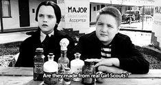 Wednesday Addams is my idol. Wednesday Movie, Wednesday Addams, Tv Quotes, Movie Quotes, Girl Quotes, Addams Family Quotes, Love Fest, Adams Family, The Munsters
