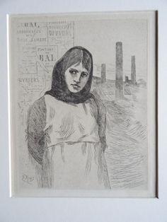 Félicien Rops (1833-1898)- A un diner D'Athées & La Greve