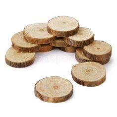 $8.24   100Pcs Rustic Natural Round Wood Pine Tree Slice Disc Wedding  Centerpiece Decor #ebay