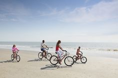 Biking on the beach in HIlton Head Island