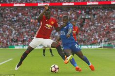 Bailly muscles out Leicester's Jeff Schlupp during an assured performance in Manchester United's back-line