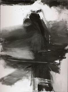 seensense:    Black, White, and Gray, 1959,Franz Kline. Oil on canvas, 105 x 78 inches (266.5 x 198cm.)