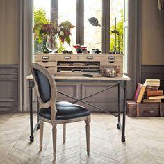 bureau secrétaire en bois chenonceau et chaise versailles ... - Chaise Tulipe Maison Du Monde 2