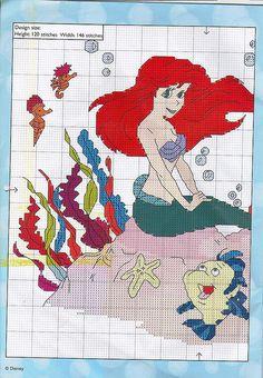 The Little Mermaid Cross Stich - Ariel 1 of 2