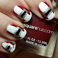 Cute! #Repost @zippyzax  It's a @squarehue kind of holiday! Base of Rudolph with I polish and style & speed. The black is #sinfulcolorsprofessional  Rudolph is a perfect 2 coat formula that doesn't look like bloody mess on cleanup... what kind of shenanigans is this???? I'm so in love!  What do you think?  #squarehueadventurescollection #squarehue #nails #manicure #nailpromote #nailfeature #nailartoohlala #nailpolishlover #nailpolish #nailart #naildit #naildesign #nailsoftheday…