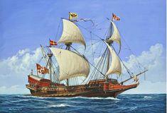 La Pintura y la Guerra. Sursumkorda in memoriam Spanish Galleon, Old Sailing Ships, Naval History, Remo, Tall Ships, Ship Art, Model Ships, Battleship, Medieval