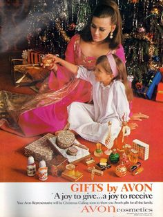 1960s •~• vintage Avon advertisement, 1967 (Mom's outfit and hairdo is dreamy! ~ Heather)