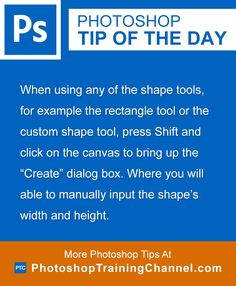 When using any of the shape tools, for example the rectangle tool or the custom…