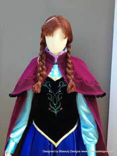 Anna Frozen Peasant Outfit Version C Costume Couture Custom Made Cosplay Princess Anna Dress, Disney Princess Dresses, Princess Seam, Anna Frozen, Frozen Movie, Costumes Couture, Frozen Costume, Couture Fashion, Black Cotton