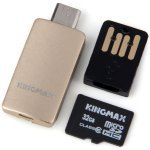KingMax High Compatibility 2 in 1 OTG Card Reader and Class 10 32GB Micro SD Card Support Micro SD SDHC SDXC Card Input