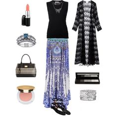 Modest 148 by burlsgurl on Polyvore featuring polyvore, fashion, style, Nina Ricci, Camilla, Valentino, Tignanello, Miadora, Express, Bling Jewelry, shu uemura, Isaac Mizrahi and MAC Cosmetics