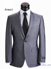 Costume à un bouton Armani Homme Gris clair Slim Fit Suits, Black And Navy, Mens Suits, Double Breasted, Suit Jacket, Mens Fashion, Costumes, Blazer, Fitness