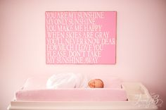 handmade canvas to match baby's room!