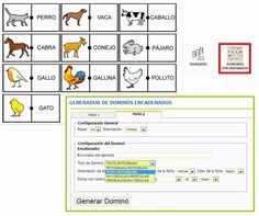 NUEVA HERRAMIENTAS ON LINE - GENERADOR DE DÓMINOS ENCADENADOS.  Para utilizarlo, simplemente, tendremos que ir añadiendo distintos pictogramas a la selección y lanzar la herramienta. Ahora sólo falta configurar el tipo de dominó encadenado que deseamos crear y ¡a jugar!  http://arasaac.org/herramientas.php