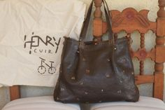 amazing embroidered henry cuir bag!