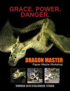 Become a Dragon Master at STOLLOWEEN Studio, 718 George Street in Midland, Michigand and create your very own sleek papier mache dragon.