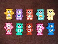 Hama bead care bears