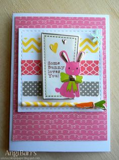 Easter card by Angi Barrs using Russell-Snider Crafts and Maxfield Tape Washi Tape Cards, Easter Projects, American Crafts, Cardmaking, Paper Crafts, Crafty, Gallery, Scrapbooking, Frame