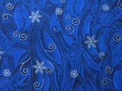 Snowflakes – Grey and White on Blue