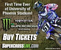 2016 MONSTER ENERGY SUPERCROSS The world's top supercross racers, Ryan Dungey, Chad Reed, Ken Roczen, and more battle it out for the esteemed 450SX Class crown.